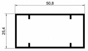 TUBO RETANGULAR 25,4X50,8