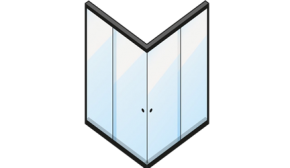Kit Box 4 Folhas Canto (Vidro Temperado)