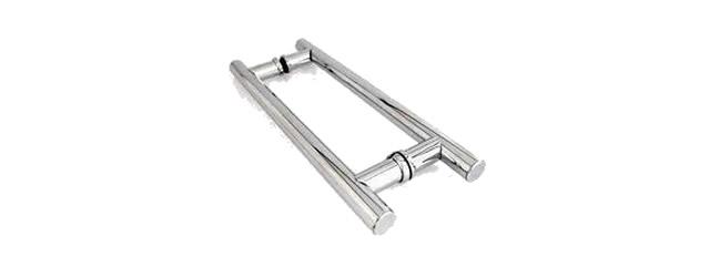 Puxador H alumínio 40cm x 30cm